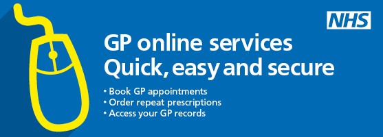 GP online services.  Quick, easy, secure.  Book GP appointments.  Order repeat prescriptions.  Access your GP records